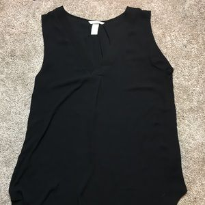 H&M Black sheer tunic sleeveless top size 10